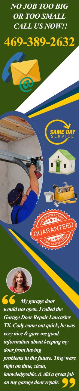 Services of Garage Door Repair Lancaster TX